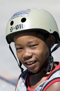 happy young skateboarder